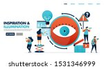 one eye in a film conspiracy to ... | Shutterstock .eps vector #1531346999