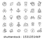 set of linear ecology icons.... | Shutterstock .eps vector #1531351469