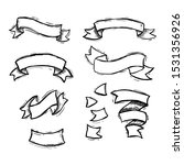 set of handdrawn ribbon ... | Shutterstock .eps vector #1531356926