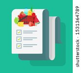 grocery shopping list or... | Shutterstock . vector #1531364789