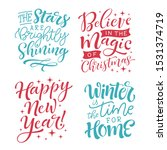 set of calligraphic and... | Shutterstock .eps vector #1531374719