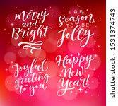 vector set of holidays... | Shutterstock .eps vector #1531374743
