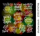 set of calligraphic and... | Shutterstock .eps vector #1531374746