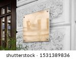 blank gold glass signboard on... | Shutterstock . vector #1531389836