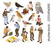 ornithologist isometric set... | Shutterstock .eps vector #1531406000