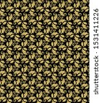 floral black and golden... | Shutterstock . vector #1531411226