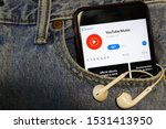 mobile phone with youtube music ... | Shutterstock . vector #1531413950