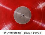 Red Vinyl Record Rotate. Ray Of ...
