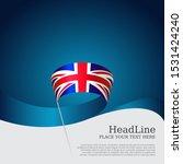 great britain flag background.... | Shutterstock .eps vector #1531424240