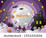 night scene and silhouette...   Shutterstock .eps vector #1531431836