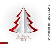 merry christmas and happy new... | Shutterstock .eps vector #153143243