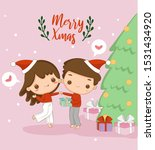 cute boy and girl with...   Shutterstock .eps vector #1531434920
