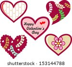 vector valentine's day icon | Shutterstock .eps vector #153144788