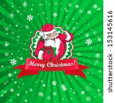 santa claus christmas card    Shutterstock . vector #153145616