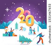 happy new year and merry... | Shutterstock .eps vector #1531467653