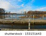 Pontoon bridge to observe the birds on  Horicon Marsh,Wisconsin