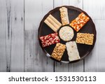 egyptian traditional sweets of... | Shutterstock . vector #1531530113