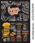 burger menu template for... | Shutterstock .eps vector #1531550399