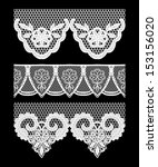 lace seamless borders. vector... | Shutterstock .eps vector #153156020
