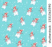 christmas seamless pattern with ... | Shutterstock .eps vector #1531563590