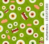 green seamless halloween... | Shutterstock .eps vector #1531571303