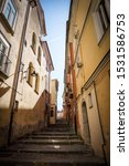 Street in the city centre of Avellino. Italy.