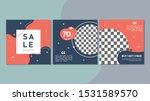 set of editable square banner... | Shutterstock .eps vector #1531589570
