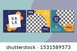 set of editable square banner... | Shutterstock .eps vector #1531589573