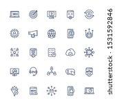 seo and digital marketing line... | Shutterstock .eps vector #1531592846