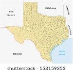 texas county map | Shutterstock .eps vector #153159353