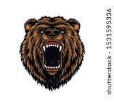 ferocious aggressive bear head... | Shutterstock .eps vector #1531595336