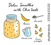 detox smoothie with chia seeds... | Shutterstock .eps vector #1531615133