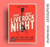 live rock night poster. live... | Shutterstock .eps vector #1531629140