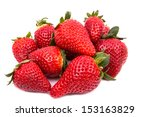 Pile Of Ripe Red Strawberries...