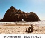 Keyhole Arch at Pfeiffer Beach in Big Sur, CA