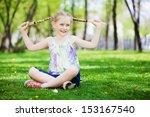 image of little cute girl...   Shutterstock . vector #153167540