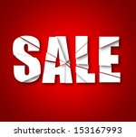 broken sale background  with... | Shutterstock .eps vector #153167993
