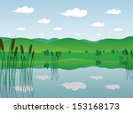 Swamp Cartoon Background