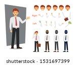 businessman character design.... | Shutterstock .eps vector #1531697399