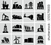 energy production icons | Shutterstock .eps vector #153170033