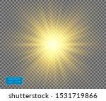 the yellow light of the sun ... | Shutterstock .eps vector #1531719866