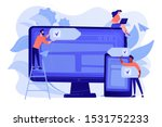 developers use software on... | Shutterstock .eps vector #1531752233