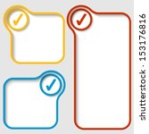 set of three vector text frames ...   Shutterstock .eps vector #153176816