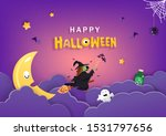 happy halloween  witch with... | Shutterstock .eps vector #1531797656