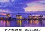 container cargo freight ship... | Shutterstock . vector #153183560