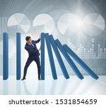 businessman in domino effect...   Shutterstock . vector #1531854659