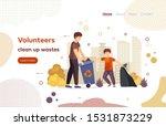 volunteer clean up waste ... | Shutterstock .eps vector #1531873229