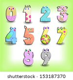 vector number set. easter | Shutterstock .eps vector #153187370