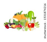 concept healthy food isolated... | Shutterstock .eps vector #1531874216