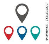 map pin vector icon isolated on ... | Shutterstock .eps vector #1531883273